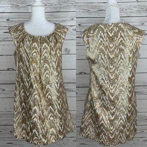 Dresses & Skirts - Kara Janx gold and silver metallic dress